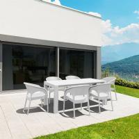 Panama Extendable Patio Dining Set 7 piece White