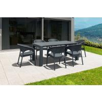 Panama Extendable Patio Dining Set 7 piece White ISP8082S-WH - 4