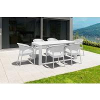 Panama Extendable Patio Dining Set 7 piece White ISP8082S-WH - 5