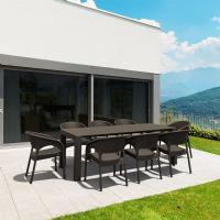 Panama Extendable Patio Dining Set 9 piece Brown