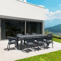 Panama Extendable Patio Dining Set 9 piece Dark Gray