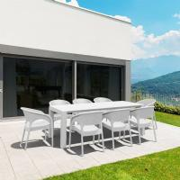 Panama Extendable Patio Dining Set 9 piece White