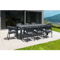 Panama Extendable Patio Dining Set 9 piece Dark Gray ISP8083S-DG - 4