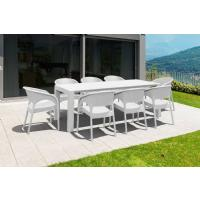 Panama Extendable Patio Dining Set 9 piece Dark Gray ISP8083S-DG - 5