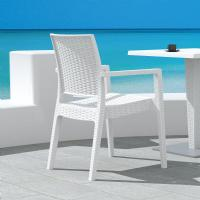 Ibiza Resin Wickerlook Dining Arm Chair White ISP810-WH - 5