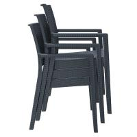 Ibiza Resin Wickerlook Dining Arm Chair Dark Gray ISP810-DG - 5