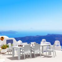Ibiza Extendable Wickerlook Dining Set 7 piece White