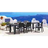 Ibiza Extendable Wickerlook Dining Set 7 piece White ISP8101S-WH - 4