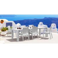Ibiza Extendable Wickerlook Dining Set 7 piece White ISP8101S-WH - 5