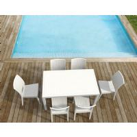 Florida Resin Wickerlook Dining Chair White ISP816-WH - 26
