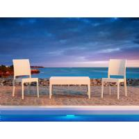 Florida Resin Wickerlook Dining Chair White ISP816-WH - 30