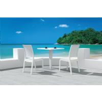 Florida Resin Wickerlook Dining Chair White ISP816-WH - 31