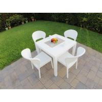 Daytona Wickerlook Square Patio Dining Set 5 Piece Dark Gray ISP8181S-DG - 6