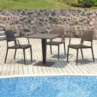 Capri Resin Wickerlook Arm Chair Brown ISP820-BR - 8