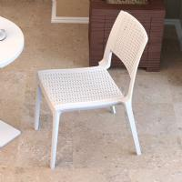 Verona Resin Wickerlook Dining Chair White ISP830-WH - 5
