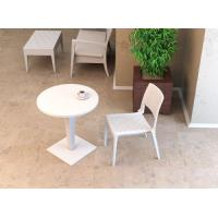 Verona Resin Wickerlook Dining Chair White ISP830-WH - 16