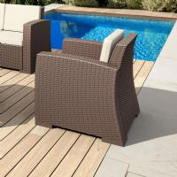 Monaco Wickerlook Club Chair Brown with Cushion ISP831-BR - 1