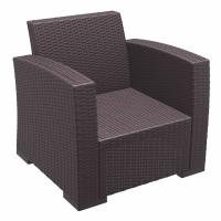 Monaco Wickerlook Club Chair Brown with Cushion ISP831-BR - 2