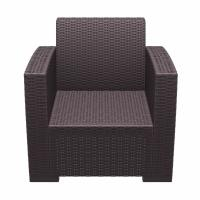 Monaco Wickerlook Club Chair Brown with Cushion ISP831-BR - 4
