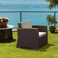 Monaco Wickerlook Club Chair Brown with Cushion ISP831-BR - 8