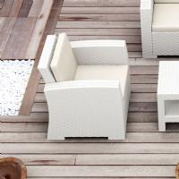 Monaco Wickerlook Club Chair White with Cushion ISP831-WH - 6