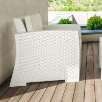 Monaco Wickerlook Club Chair White with Cushion ISP831-WH - 7