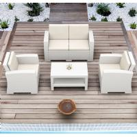 Monaco Wickerlook Loveseat Brown with Cushion ISP832-BR-BEI - 4