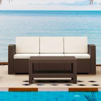 Monaco Wickerlook Sofa XL Brown with Cushion ISP833-BR - 5