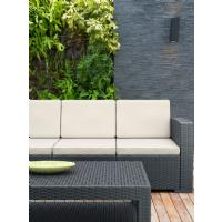 Monaco Wickerlook Sofa XL Dark Gray with Cushion ISP833-DG - 9
