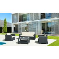 Monaco Wickerlook Sofa XL Dark Gray with Cushion ISP833-DG - 10
