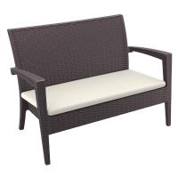 Miami Resin Wickerlook Loveseat Brown ISP845-BR - 1