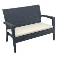 Miami Resin Wickerlook Loveseat Dark Gray ISP845-DG - 1