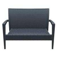 Miami Resin Wickerlook Loveseat Dark Gray ISP845-DG - 3