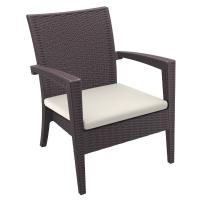 Miami Resin Wickerlook Club Chair Brown ISP850-BR - 1