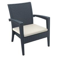 Miami Resin Wickerlook Club Chair Dark Gray ISP850-DG - 1