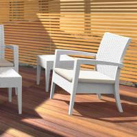 Miami Resin Wickerlook Club Chair White ISP850-WH - 6