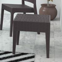 Miami Square Resin Wickerlook Side Table Brown ISP858-BR - 2