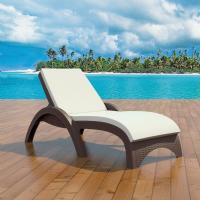 Fiji Resin Wickerlook Chaise Lounge Brown ISP860-BR - 1
