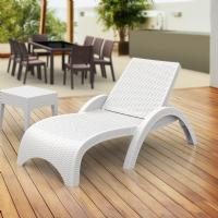 Fiji Resin Wickerlook Chaise Lounge White ISP860-WH - 1
