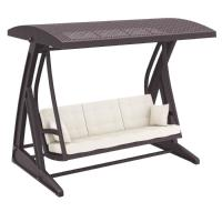 Hawaii Wickerlook Patio Swing with Sunbrella Cushions Brown ISP862-BR - 5