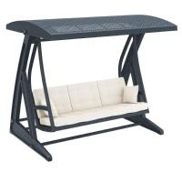 Hawaii Wickerlook Patio Swing with Sunbrella Cushions Dark Gray ISP862-DG - 5