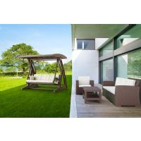 Hawaii Wickerlook Patio Swing with Sunbrella Cushions Brown ISP862-BR - 7