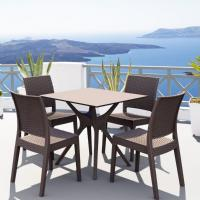 Ibiza Florida Square Patio Dining Set 5 Piece Brown
