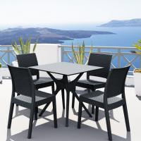 Ibiza Florida Square Patio Dining Set 5 Piece Dark Gray