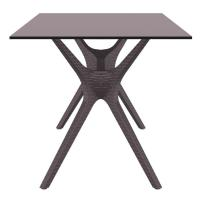 Ibiza Rectangle Dining Table 55 inch Brown ISP864-BR - 2