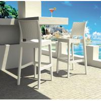 Jamaica Wickerlook Resin Bar Chair White ISP866-WH - 14