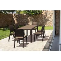 Orlando Wickerlook Patio Dining Set 7 Piece Brown ISP8781S-BR - 3