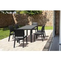 Orlando Wickerlook Patio Dining Set 7 Piece Brown ISP8781S-BR - 4