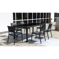 Miami Resin Wickerlook Rectangle Dining Table Brown 71 inch ISP880-BR - 13