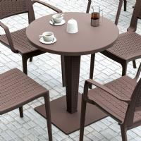 Riva Wickerlook Resin Round Dining Table Brown 28 inch. ISP882-BR - 3